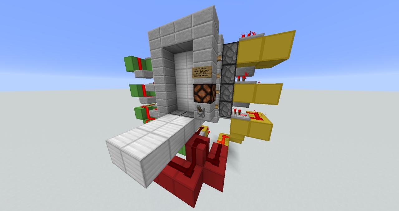 & 4x2 Lockable Piston Door by Sparkez Minecraft Project Pezcame.Com