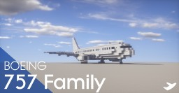 Boeing 757 Family Minecraft Map & Project