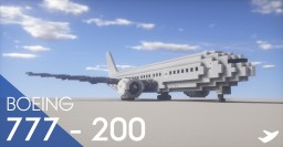 Boeing 777-200 Minecraft Map & Project