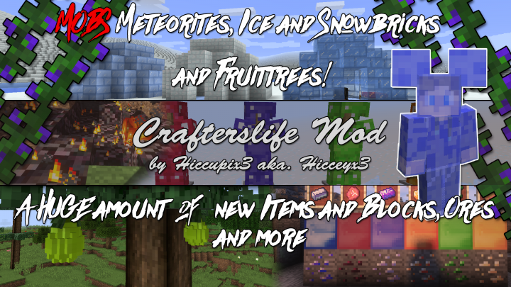 Popular Mod : Crafterslife Mod - BOW UPDATE - NEW FEATURES | 1.11 IN NEXT UPDATE!!