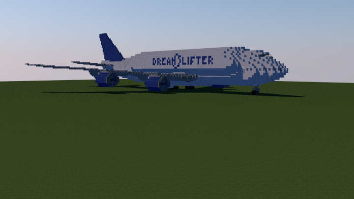 Minecraft boeing 747-400 (united airlines post-merger livery.