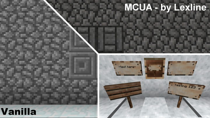 Some of the new additions in V1.09 Cobblestone, carved stone bricks, and placedheld signs