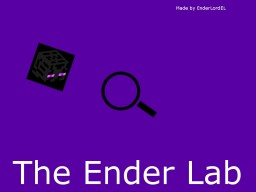 The Ender Lab Minecraft Map & Project
