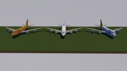 Boeing 747-400f Polar Air Cargo DHL freighter, Boeing 747-200 DHL and Boeing 747-400 Minecraft Map & Project