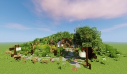 High-Elvish Hobbit Hole Minecraft Project