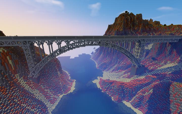 arch bridge minecraft project