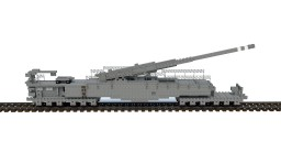 Krupp K.5 railway Gun (2:1) (Download)