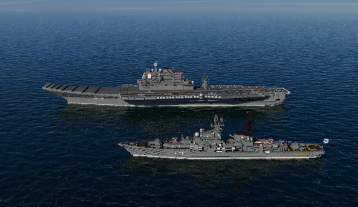 russian cv admiral gorshkov minecraft project