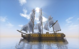 18th century Post ship Minecraft Map & Project