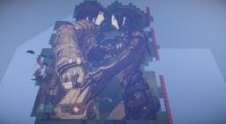 Blame! Pixel Art Minecraft