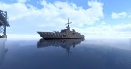 La Fayette Stealth Frigate Minecraft Map & Project