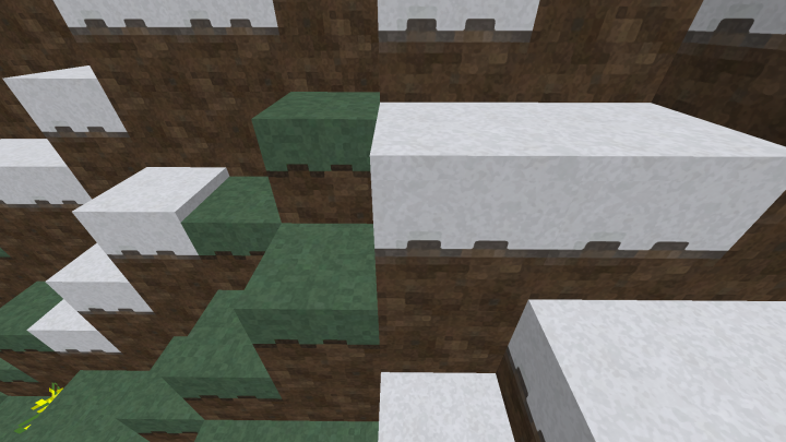 The Grass and Snow blocks without Shader