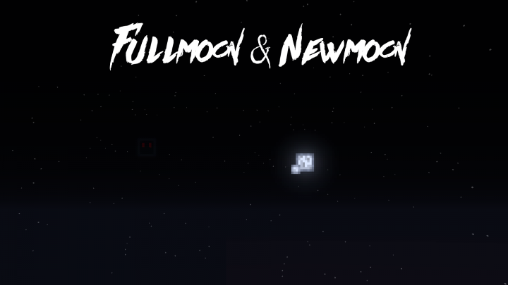 left side newmoon right side fullmoon