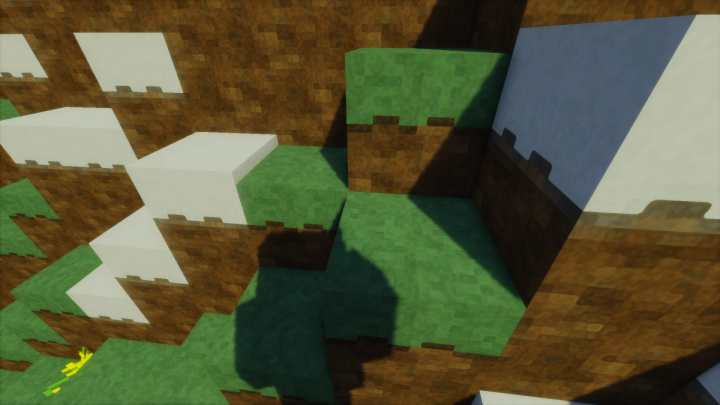 Grass and Snowblocks with shader