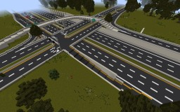 Highway Diamond Interchange Minecraft Map & Project