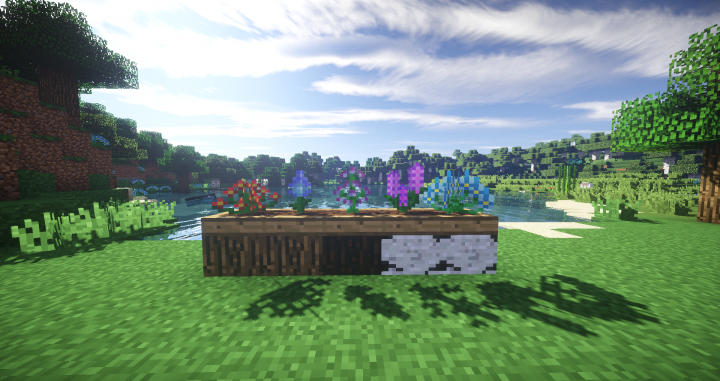 The Mod adds new flowers and flower pots