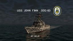 USS John Finn DDG-113 | Arleigh burke flight 2a [1:1] Minecraft Map & Project