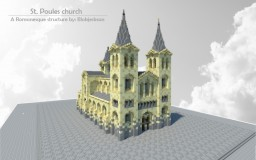 Saint Poules Church. A romanesque structure. Minecraft Project