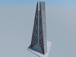 Russia Tower, Moscow Minecraft Project