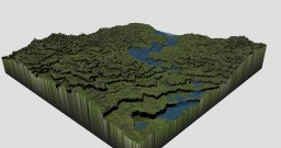 A Small Valley - Minecraft Terraforming Minecraft Project