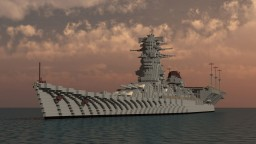 Fictional Japanese Hybrid Battleship Carrier - 和泉 (Izumi) Minecraft