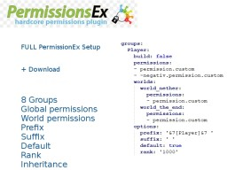 PermissionsEx - FULL permissions.yml setup Minecraft Blog