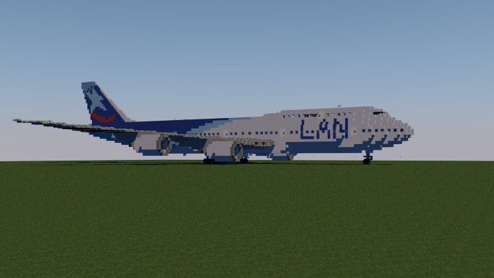 Boeing 747 100 Lan Chile Minecraft Project