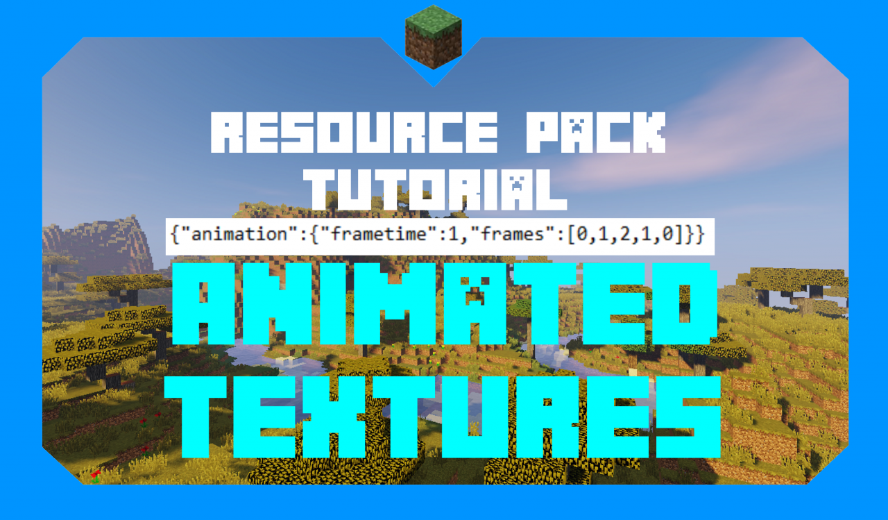 How to Make Animated Textures | Resource Pack Tutorial