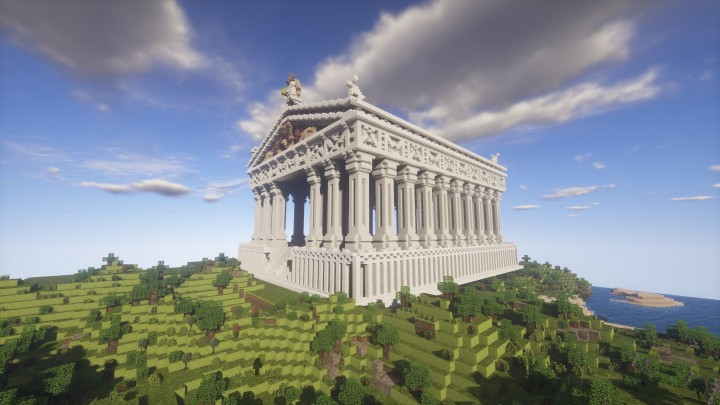 Greek Architecture Minecraft world download] greek parthenon minecraft project