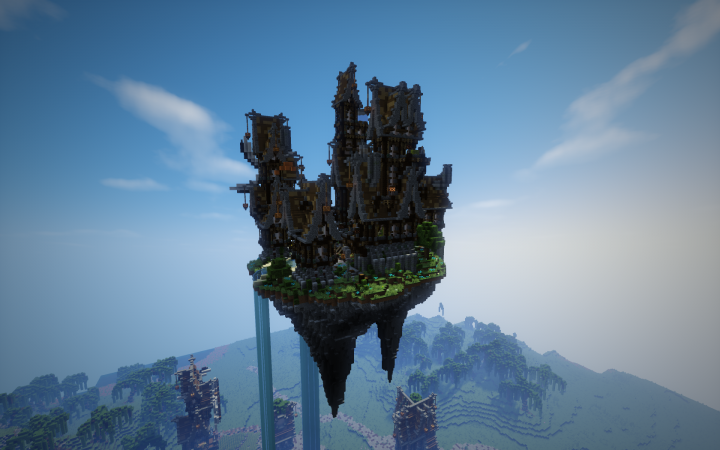 île Volante Steampunk Minecraft Project