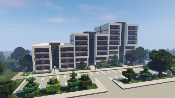 Modern Apartment Building 5 (full interior) Minecraft Project