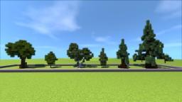 A small tree package(oak,birch,pine) + Tutorial! Minecraft Map & Project