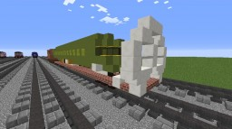 Boeing 737 Fuselage Carrier Flatcar Minecraft Map & Project