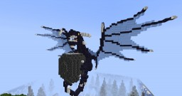 Small Blue floating dragon Minecraft Project