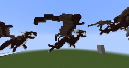 3 Small netherbrick dragons Minecraft Project