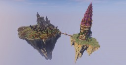 Floating Island with Witch and Mage towers Minecraft Map & Project