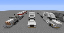 18-Wheeler Package - 3 Trucks Included! | 1:1 Scale Minecraft Map & Project