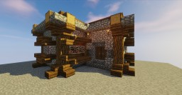 NPC Village Library Remodel / Transformation Minecraft Map & Project