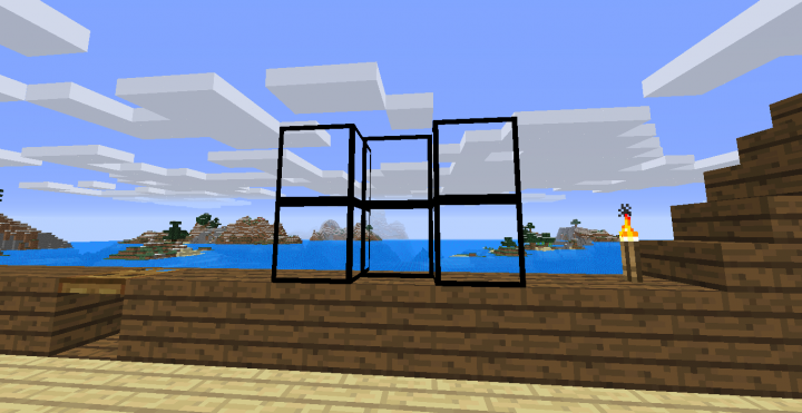 Glass texture is easier to see through I did NOT change stained glass