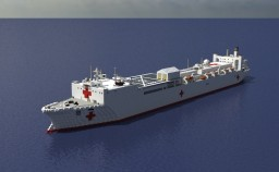 USNS Comfort (Hospital Ship)  1:1 scale Minecraft