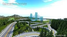 Esperanto Interstate Bridge + Train Bridge and Interchange [Republic of Union Islands] Minecraft Map & Project