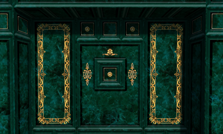Green marble textures as emerald blocks