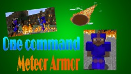 Minecraft 1.11.2 One command creation Meteor armor