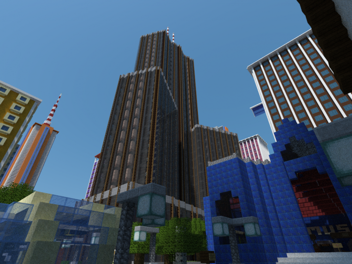 MineCity world for Builder rank and over to build in