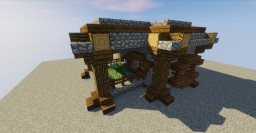NPC Village House with Garden or Butchers Remodel / Transformation Minecraft Map & Project