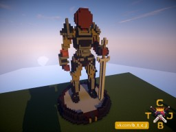 Warrior Statue Minecraft Project
