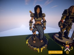 Woman Knight Statue Minecraft Project