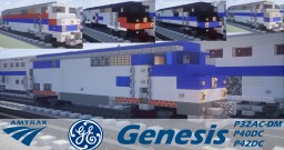 Amtrak GE Genesis - P32AC-DM, P40DC, P42DC + P42DC heritage units Minecraft Project