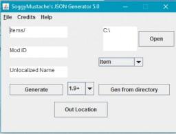 SoggyMustache's JSON Generator Minecraft