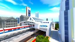 Modern Train Station (Lakefield Station) | Republic of Union Islands Minecraft Project